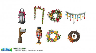 The Sims 4 Stagioni: concept art di Salomon Duarte