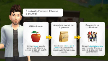 The Sims mobile: evento ritorno a scuola