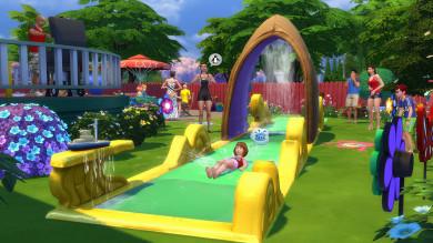 Provate lo scivolo acquatico da giardino in The Sims 4 Divertimento in Cortile Stuff