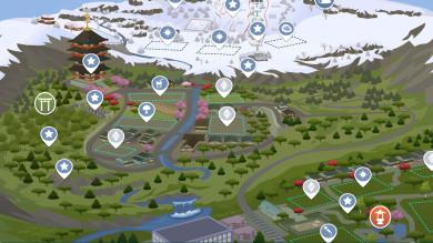 The Sims 4 Oasi Innevata: cartina interattiva