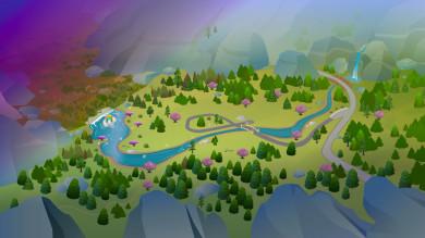 The Sims 4 Regno Della Magia: icona e mappa di Glimmerbrook