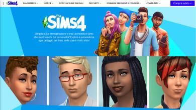 Il sito di The Sims ha una nuova veste